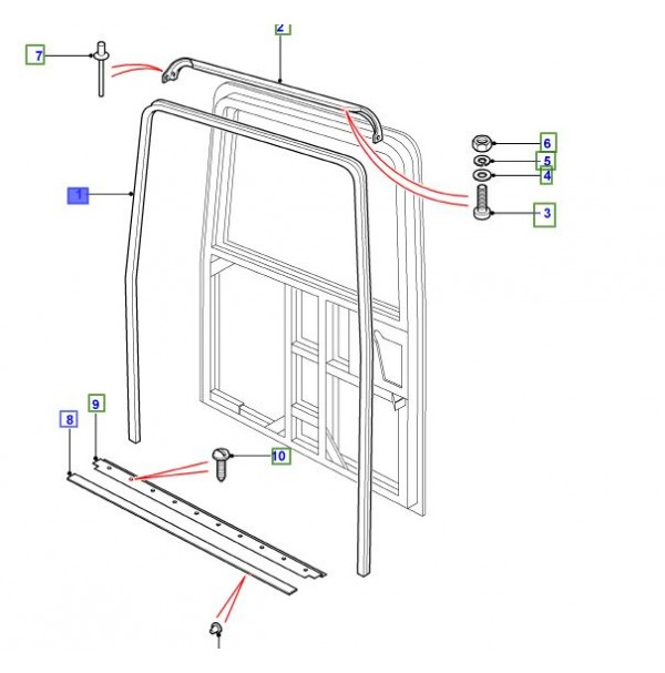 SEAL-LOAD/TAIL DOOR PRIMARY LR044314