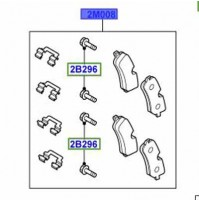 KIT - CALIPER REAR BRAKE PAD WITH CLIPS, AXLE SET LR068303