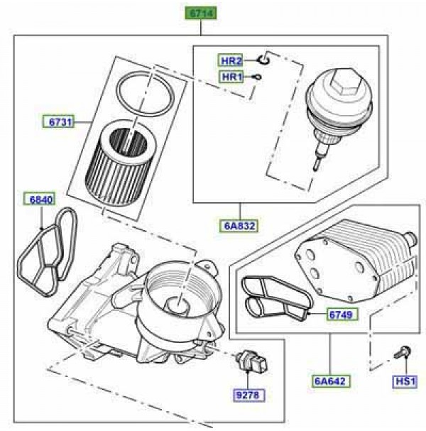 OIL FILTER ASSEMBLY LPZ000010